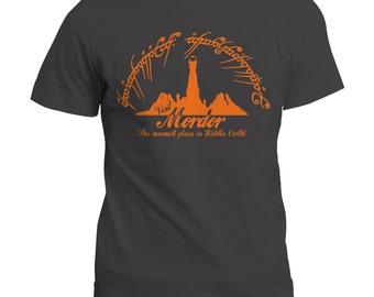 T Shirt | LOTR Inspired Visit Mordor T-Shirt | Sauron | Gandalf | Hobbit | Gift Tee Top