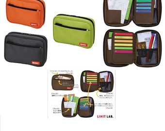 """Lihit Lab Money, Cards and Pen Case 3.3"""" x 6.9"""""""
