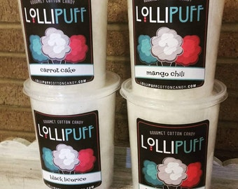4 Gourmet Cotton Candy, Party Favor, Unique Gift, Cotton Candy Favors, Organic Cotton Candy, All Natural Cotton Candy, Cotton Candy, Pink