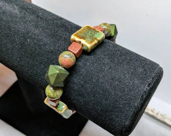 Green Rustic Bracelet