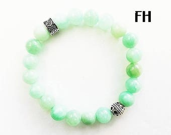 Women's Bracelet, Women's Jewelry, Teal Quartz Bracelet, Gemstone Bracelet, Gemstone Jewelry, Gifts for Her, Healing Bracelet, Quartz Stone