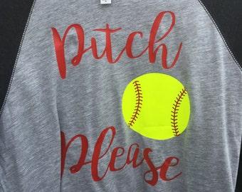 Pitch Please Softball Regular Print
