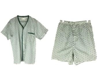 Vintage Men's Pajama Set | 60s Pajamas | 70s Pajamas | 70s Men's Pajama Set | Men's Sleepwear | 1960s Sleep Set | McKenzie Imperial Medium M