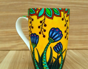 mug for mum, flowers mug