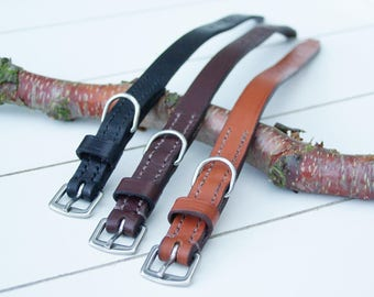 Classic Charm - Small - Leather Dog Collar Made to Order