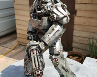 Fallout 4 T60 Power Armor With Minigun Display Model 6 & 9 Inch Variations