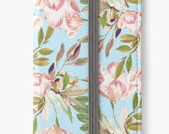 iPhone 6 Wallet, Floral iPhone 6s Wallet, iPhone 6 Plus Wallet, iPhone 6s Plus Wallet, Tulips iPhone Wallet Case, Girlfriend Gift