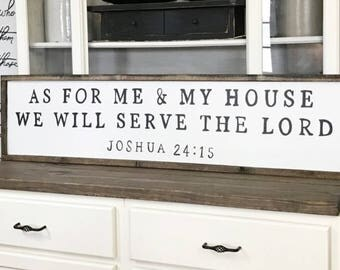 As For Me and My House We Will Serve The Lord Wood Framed Sign