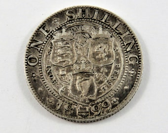 Great Britain Sterling Silver 1899 One Shilling Coin.