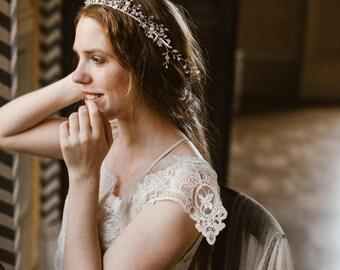 """Wedding """"Lophelia tiara"""", bridal headpiece, hairvine, flower crown, vintage hairstyle, Made in italy"""