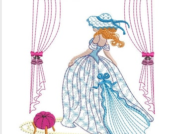 "Southern belle machine embroidery download 5  different sizes (3.4 X3.4     4X4     5x5  6x6""  7x7 )"
