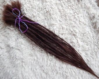 Human Hair Crocheted Dreadlock Extensions Listing | 20 Dreads | Choose Your Colour