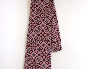 Vintage 1970's Mauve / Pink Cervantes Necktie