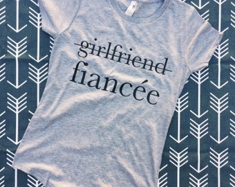FIANCE SHIRT, ENGAGED Af, Fiance, Girlfriend Fiance Shirt, Bride Tanktop, Engaged Shirt, Resting Bride Face, Fiancee, Bachelorette Shirts