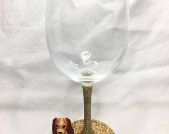 Lady from Lady and the Tramp Disney Wine Glass