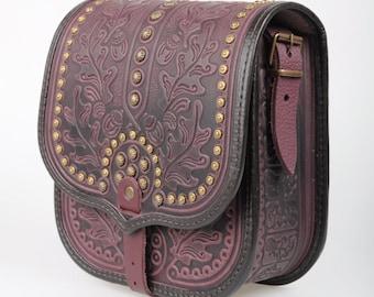 Crossbody bag Brown Small leather bag Handmade  Messenger bag Small handbag Satchel bag leather Women gift Wife gift Present woman