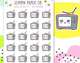 M042 TV // Kawaii Planner Stickers