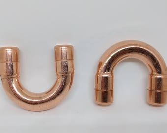 Copper Handle Drawer Pull Knobs Pulls Cabinet Hardware by QuirkHub