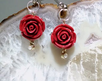 Little Red Roses Nipple Clamps