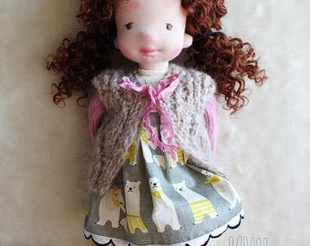 FREE SHIPPING!!! Waldorf Doll,  APRIL, Waldorf inspired doll,  Sock Doll