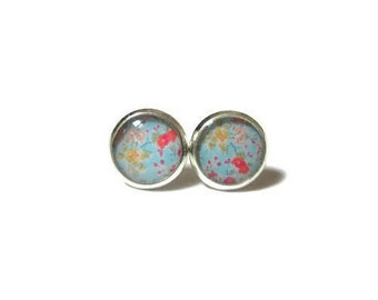 PALE BLUE EARRINGS - Flower Earrings - Flower Girl Earrings - gifts for girls - gifts for tweens