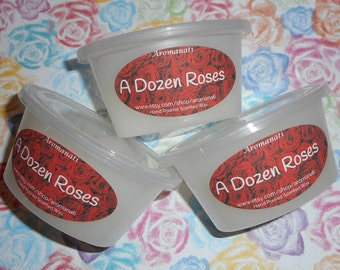A dozen roses - wax melts - wax shots - candle melts - tart melts - home fragrance - rose scent - rose fragrance - rose candle