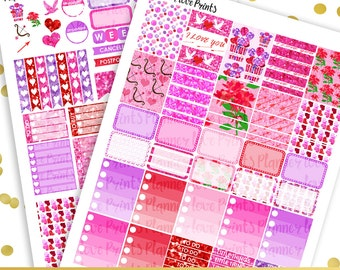 50%off VALENTINE'S DAY PRINTABLE Planner Stickers | Instant Download | Pdf and Jpg Format