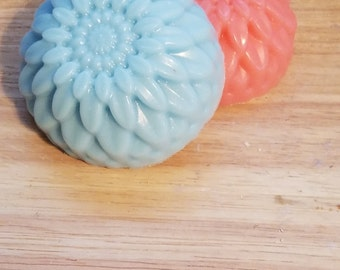 Flower soaps, spring soap, pretty soap, bright soaps