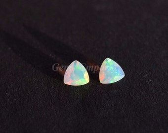 Natural Ethiopian Opal 7 mm Faceted Trillion. Fine Quality Material with Nice Sheen over the surface. Priced Individually