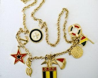 Nautical Sailing Necklace Vintage
