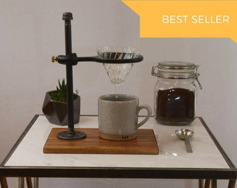 Adjustable Single Pour-Over Coffee Stand - Industrial: pour over coffee stand, coffee dripper, coffee maker, hario, v60