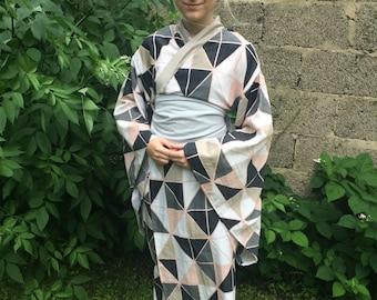 Kimono Yukata Japanese Dress Kawaii Unisize