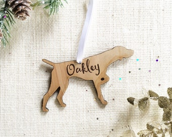 German Shorthaired Pointer Magnet Personalized - Pet Remembrance Gift - Dog Lover Gift - Personalized Dog Christmas Ornament