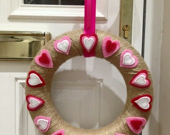 Handcrafted Valentine Heart Wreath/Wall Hanging