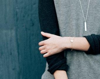 Minimal Gold Bracelet, Geometric Gold Bracelet, Half Circle Bracelet, Geomertic Friendship Bracelet, Triangle Bracelet | THE COURTYARD