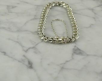 800  Silver Curb Link Bracelet