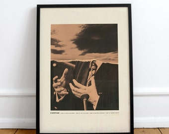 Caspian Screenprint • Design by Simon Marchner || Gig Poster Artprint Silkscreen Limited Edition Siebdruck Print Gigposter