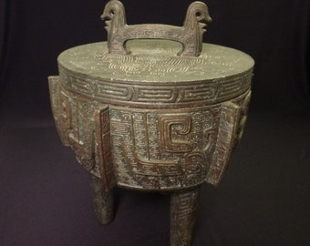 Cast Copper Ice Bucket attributed to James Mont (1960)