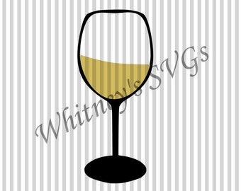 Wine Glass SVG DXF Cutting File