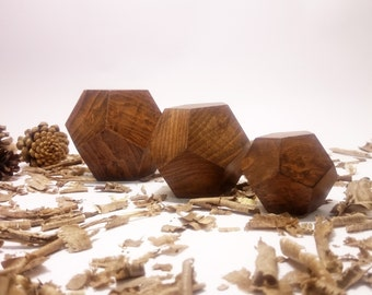 Wooden Dodecahedrons Set  , Golden Ratio Geometrys ,  Platonic Solid, Sacred Geometry , Dodechahedrons Set ,