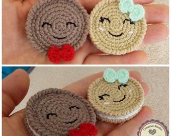 Crochet Cookies/ Amigurumi Cookies/ Play Food/ Pretend Play/ Crochet Food/ Crochet Sweets/ Nursery Decor/ Home Decor / Kitchen Decor