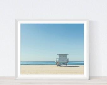 Lifeguard Stand Photograph, Ocean Wall Art, Lifeguard Tower, Lifeguard Tower Art, Beach Life, Sea Wall Decor, Coastal Photography,C5