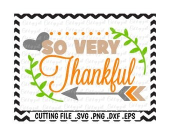 Thankful Svg, Blessed Svg, Fall, Thanksgiving Svg-Dxf-Png-Pdf-Eps, Cutting Files for Silhouette Cameo/Cricut, Svg Download.