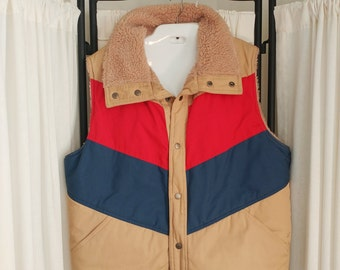 1970s Reversible Retro Winter Ski Vest