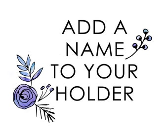 Add A Personalized Name To Any Makeup Brush Holder