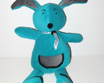 Stuffed rabbit, Stuffed Bunny  made from recycled farics – animal toy