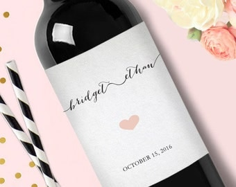 Wedding Wine Label //Engagement Wine Label / / Favors