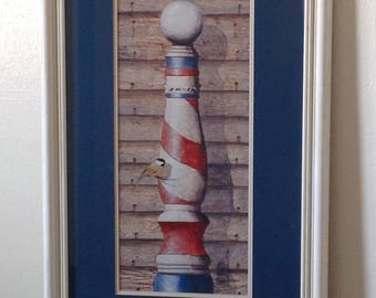 Ron Wickersham ~ Barber Pole ~ Vintage ~ Signed and Numbered
