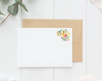 Floral Monogram Stationary
