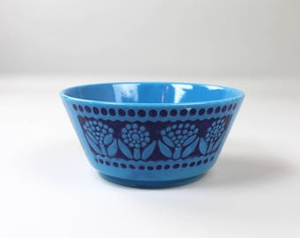Vintage Bowl Waechtersbach, shell, ceramics, 70s retro dishes, made in Germany, blue shell